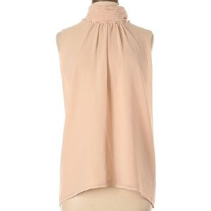 KARL LAGERFELD Paris Pearl Mock Neck Tank Blouse
